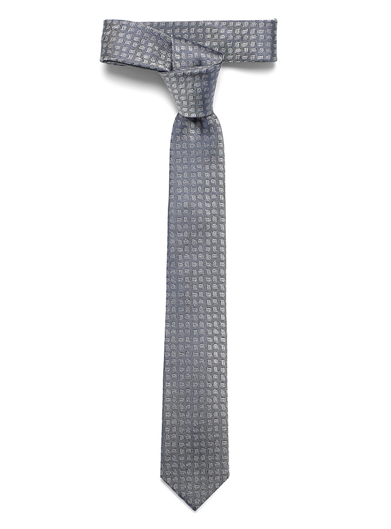 Le 31 Charcoal Tone-on-tone paisley tie for men