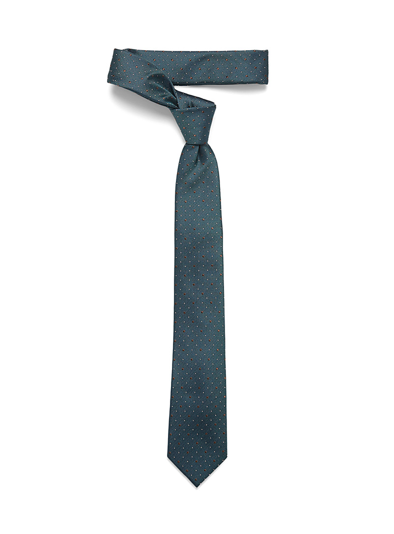 Le 31 Slate Blue Dotted tie for men