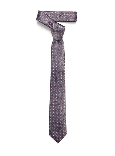 Dotted heather tie