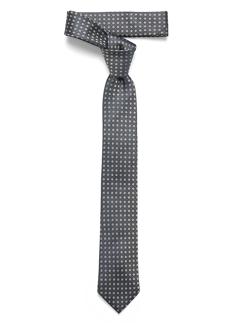 Le 31 Marine Blue Dotted tie for men