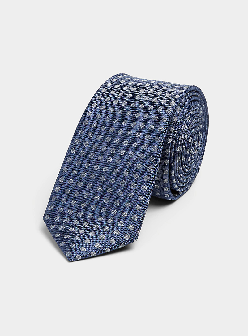 Le 31 Blue Dotted tie for men