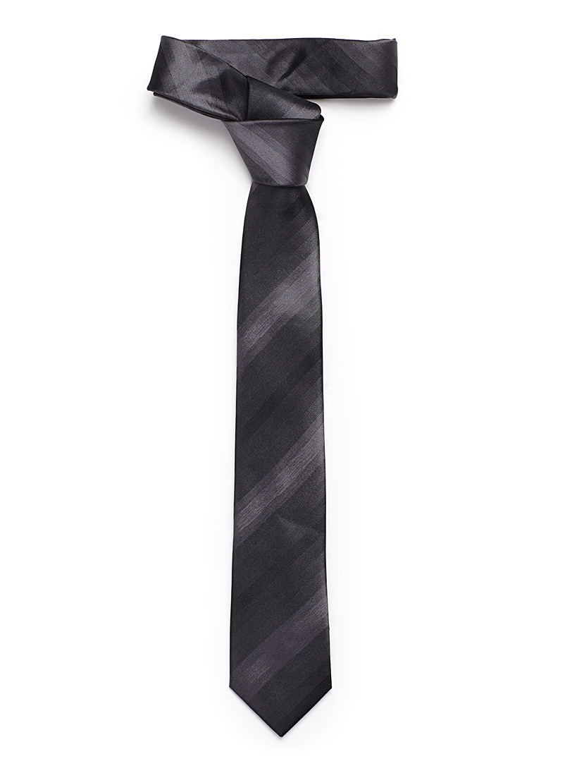 Le 31 Charcoal Ombré stripe tie for men