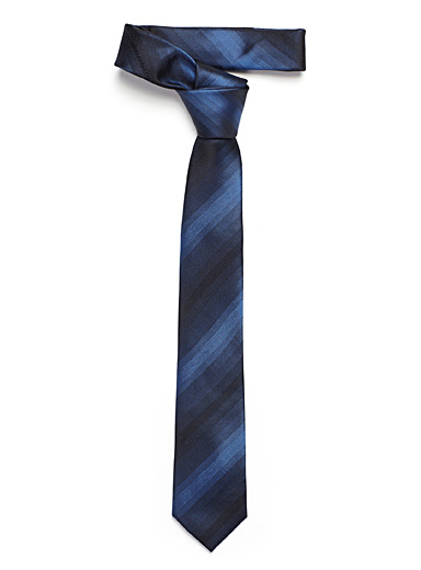 Le 31 Sapphire Blue Ombré stripe tie for men