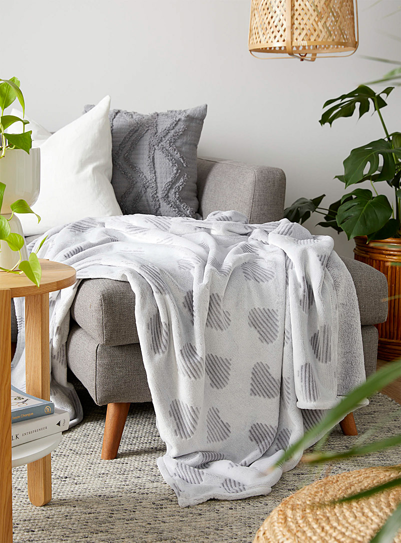Simons Maison Grey Grey heart throw  130 x 180 cm