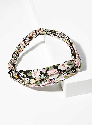 Simons Assorted Floral tied headband for women