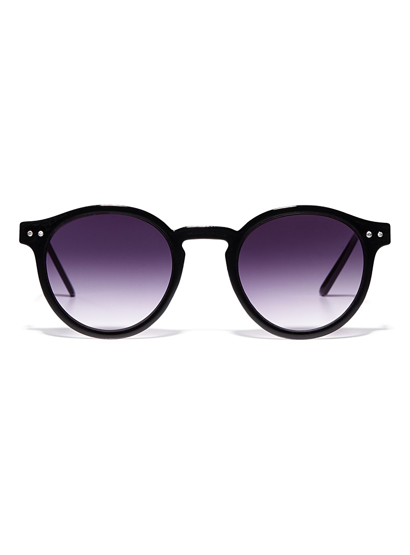 British Summer round sunglasses - Designer - Black