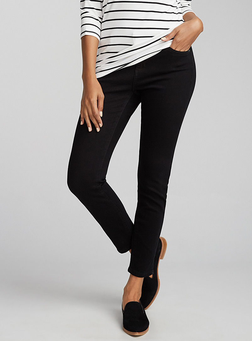 Contemporaine Black Black stretchy skinny ankle jean for women