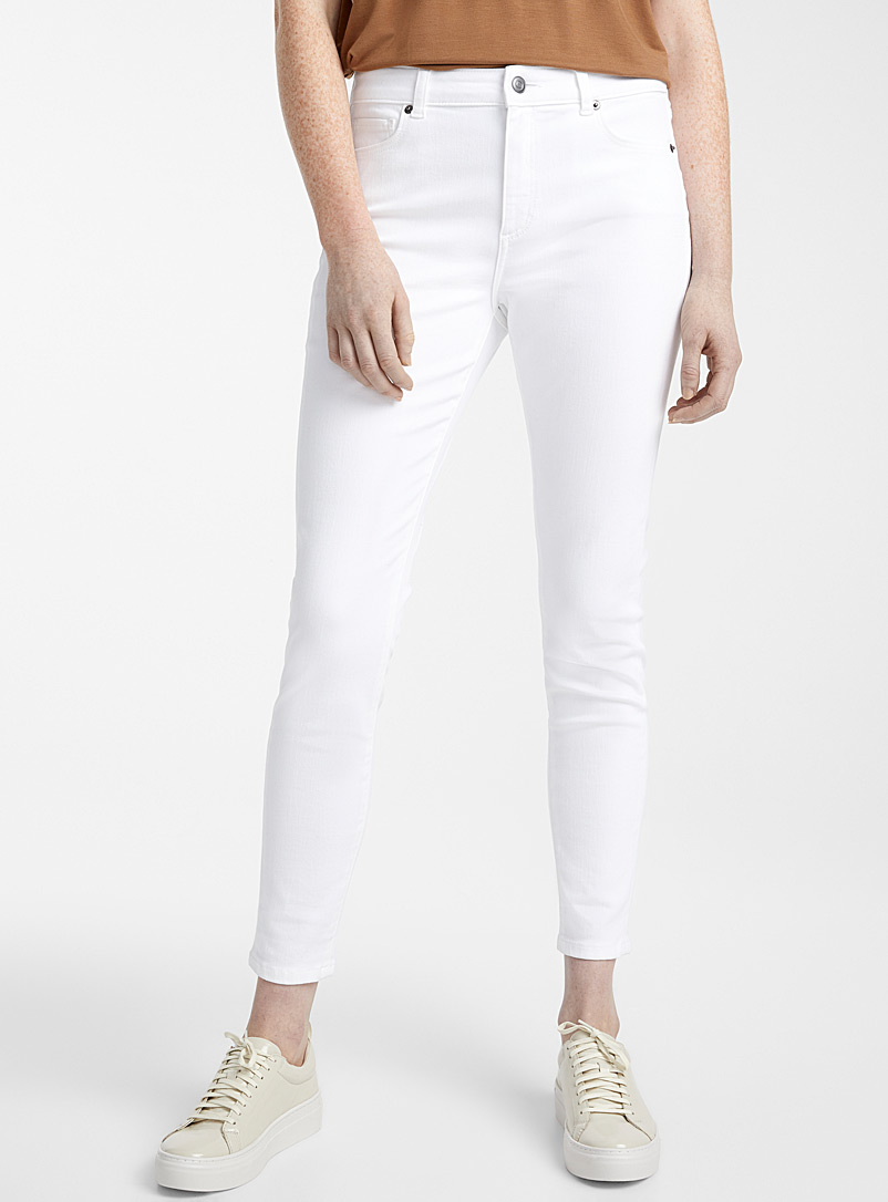 Contemporaine Ivory White Coloured skinny ankle jean for women