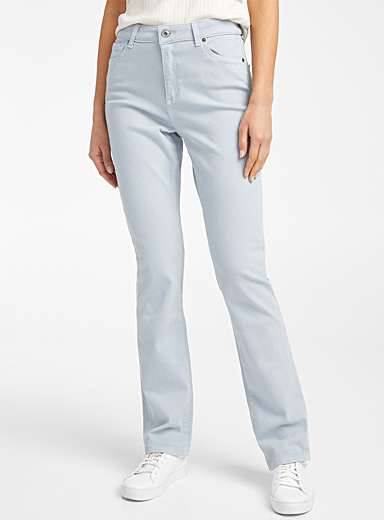 Coloured straight stretch jean