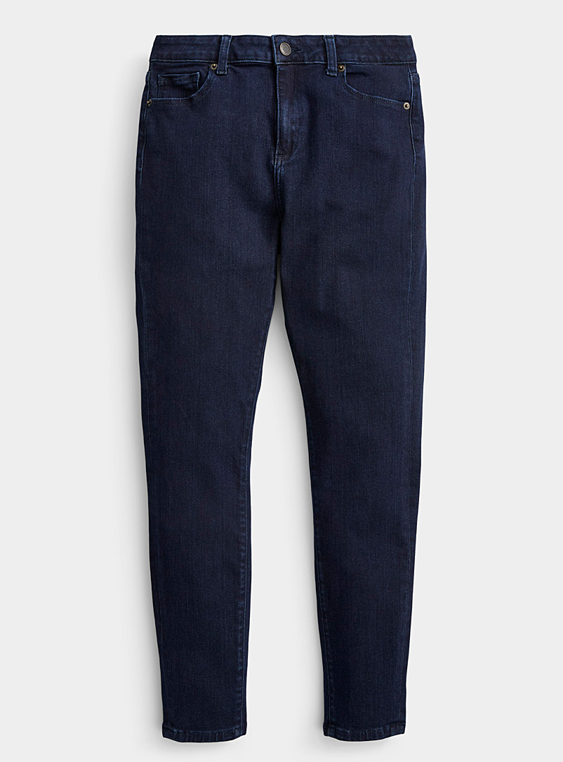 Contemporaine Dark Blue Stretchy skinny ankle jean for women