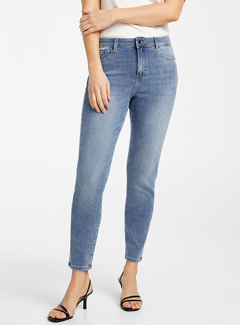 Contemporaine Baby Blue Stretchy skinny ankle jean for women