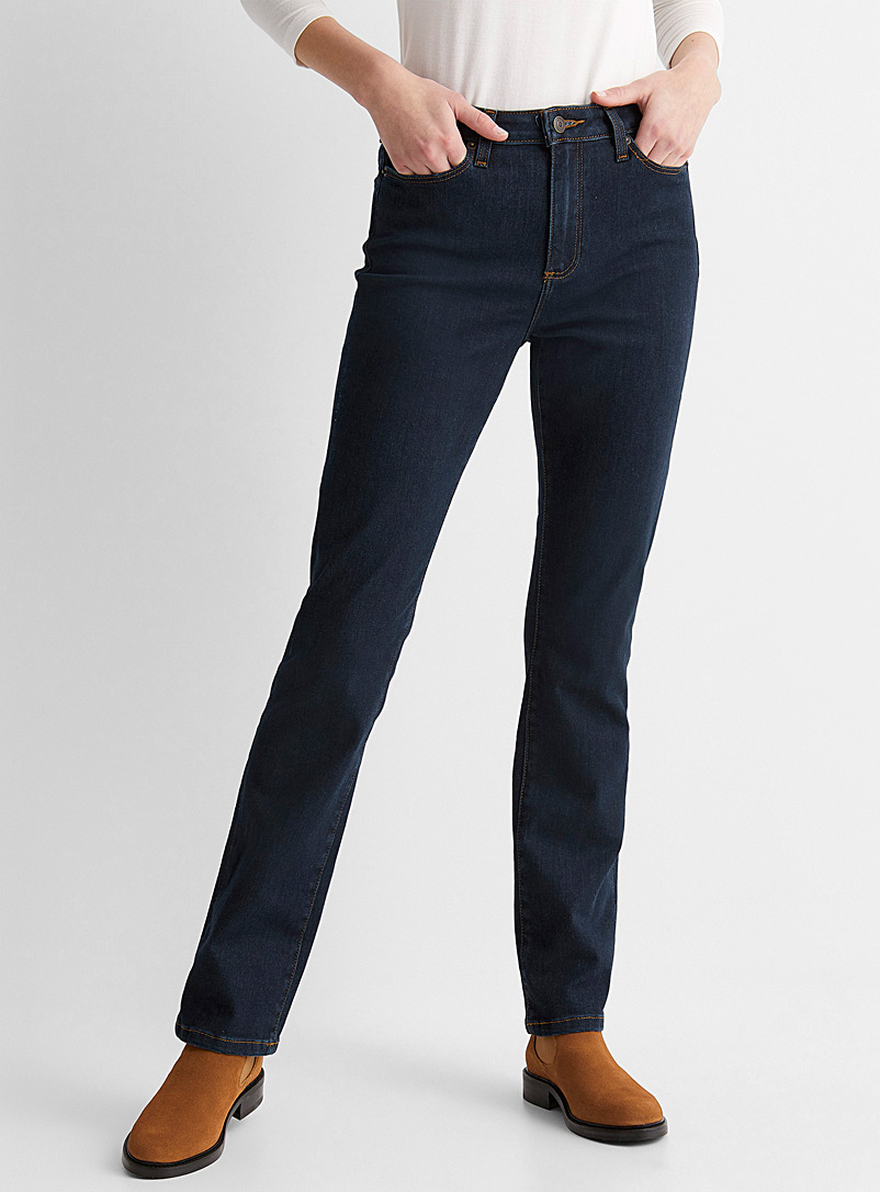 Contemporaine Dark Blue Stretch straight jean for women