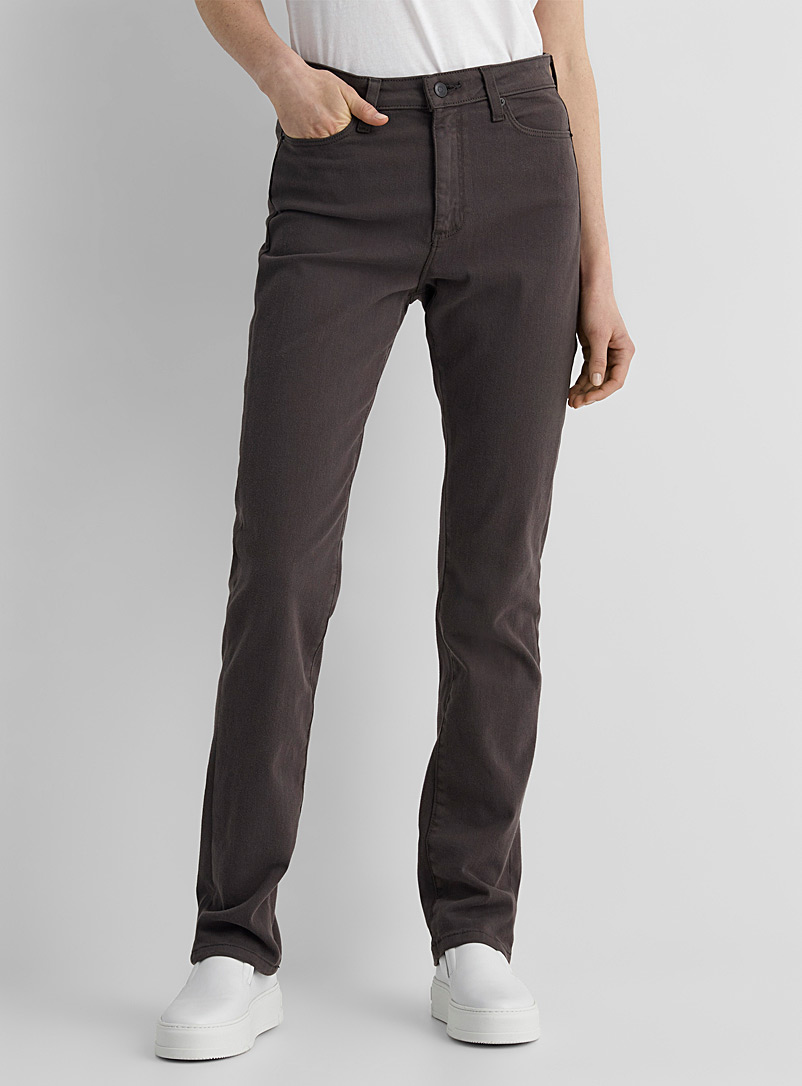Contemporaine Charcoal Natural tone straight stretch jean for women