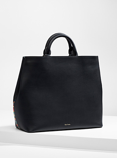 Paul Smith Black Swirl trimmed tote for women
