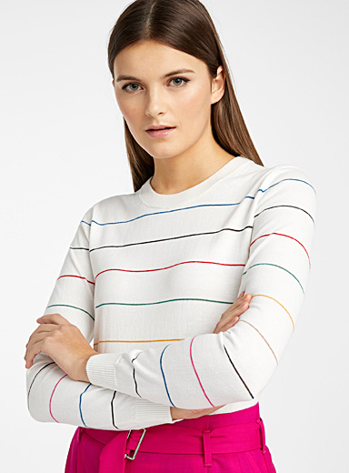PS Paul Smith Black and White Striped sweater for women
