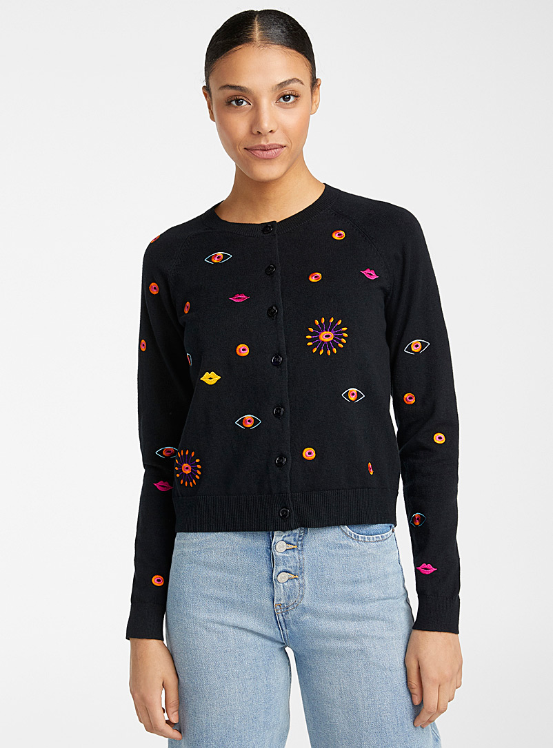 PS Paul Smith Black Galaxy cardigan for women