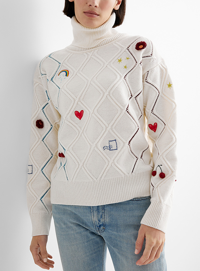 PS Paul Smith White Doodle sweater for women