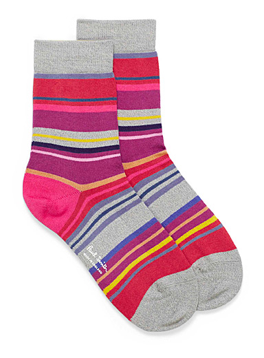 Colourful stripe ankle socks