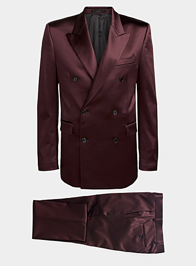 Paul Smith Ruby Red Satiny suit for men