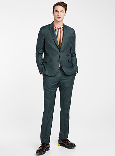 Paul Smith Green Chambray Soho suit for men