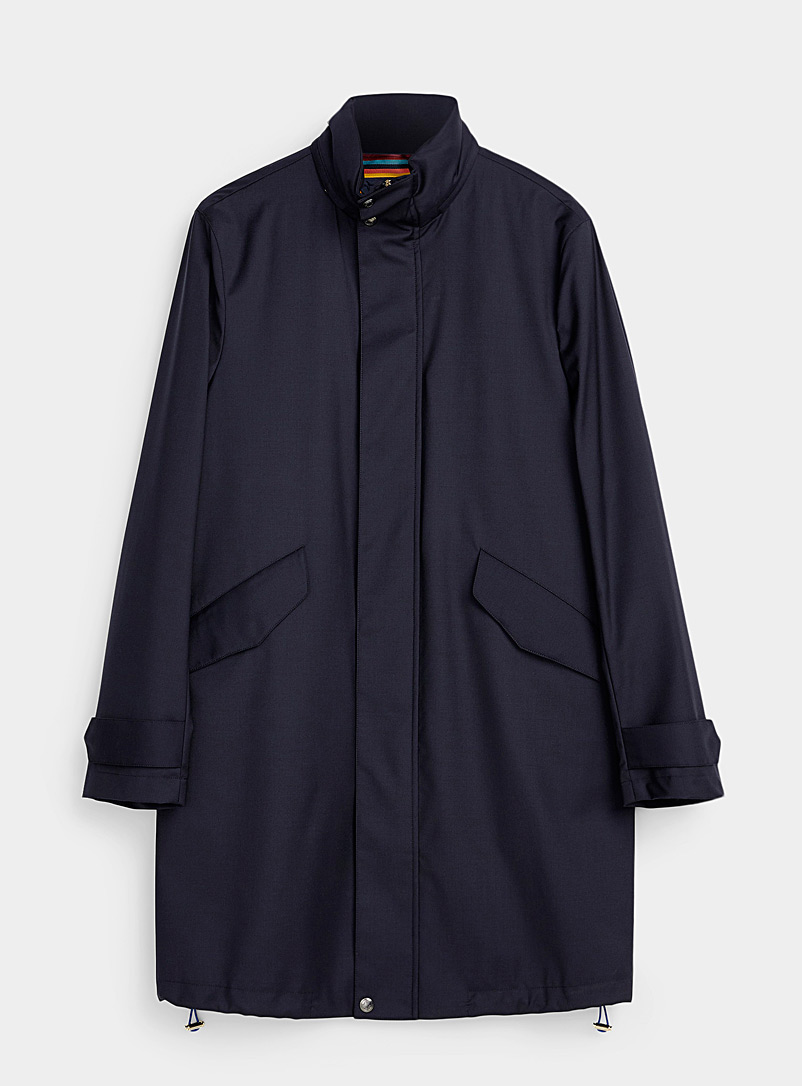 Paul Smith Marine Blue 2-in-1 rain parka for men