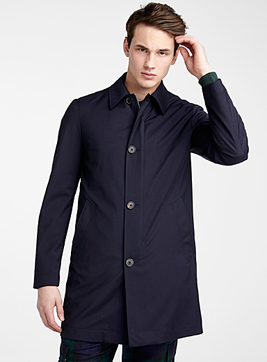 Removable vest trench coat