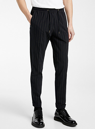 Paul Smith Black Pinstripe pant for men