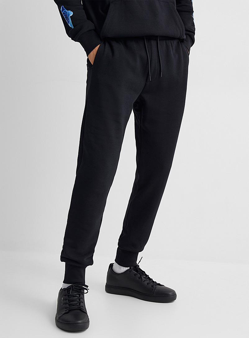 Paul Smith Black Rose print pocket joggers for men