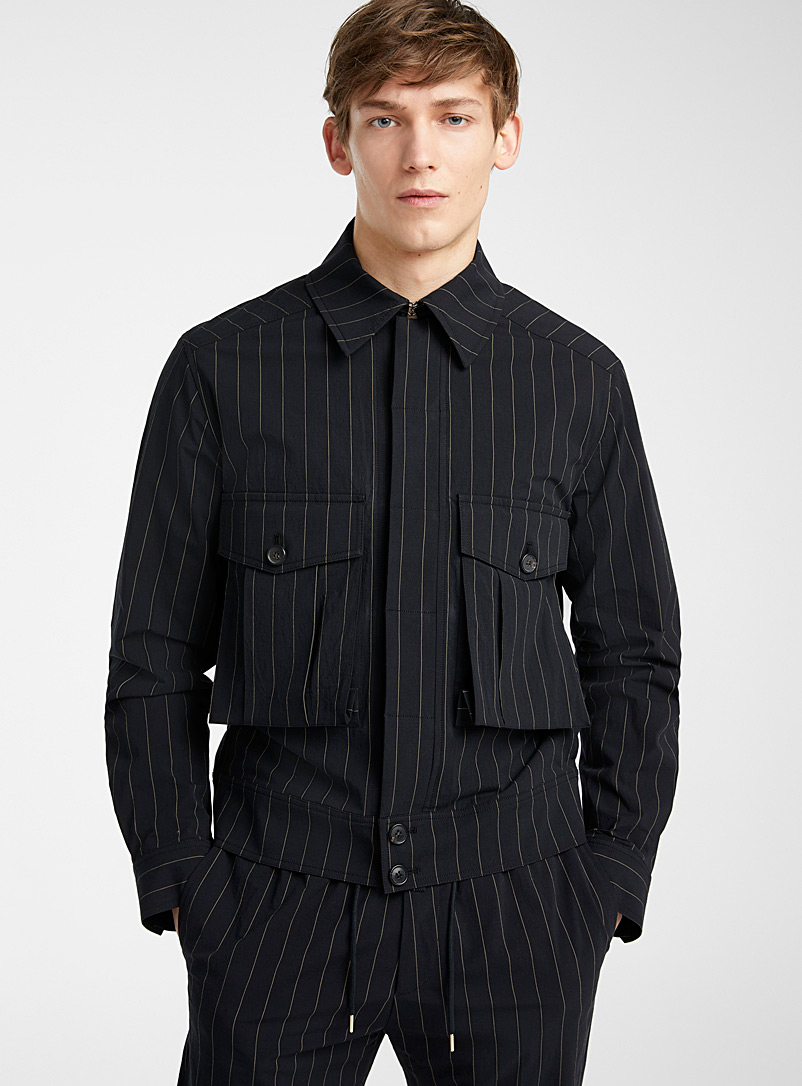 Paul Smith Black Striped casual jacket for men