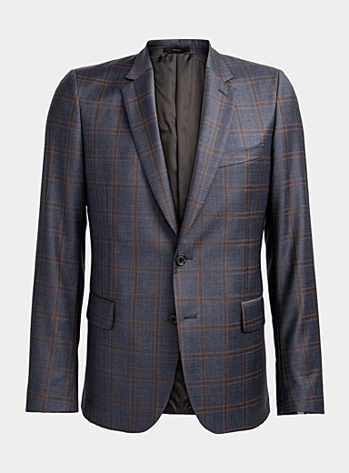 Paul Smith Patterned Blue Windowpane check jacket for men