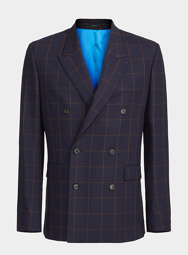 Paul Smith: Le veston double boutonnage Marine pour homme