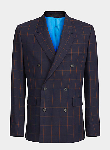 Paul Smith Marine Blue Double-breasted blazer for men