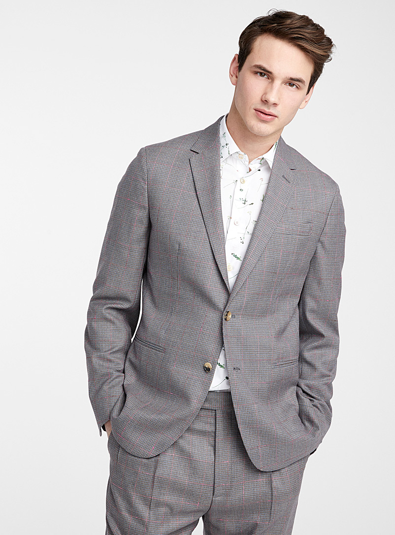 Paul Smith Patterned Grey Check jacket for men
