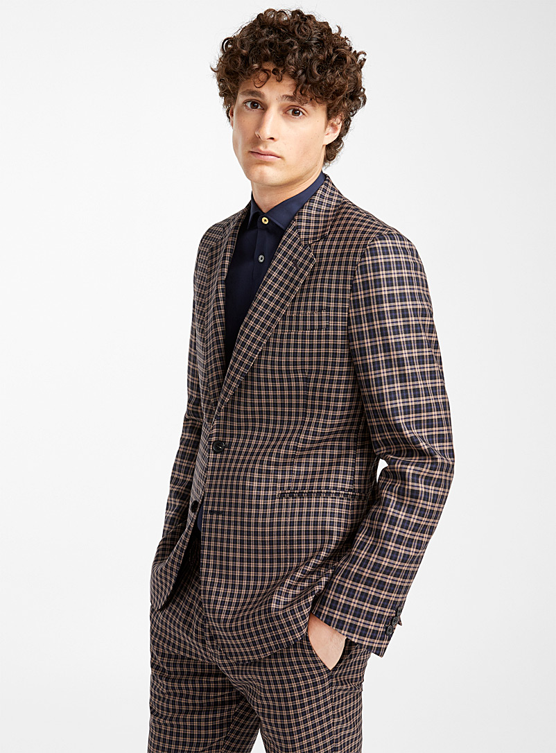 Le veston Check - Paul Smith - Bleu à motifs