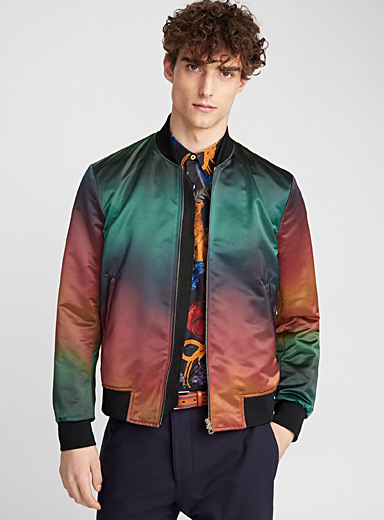 Colour-graded bomber jacket