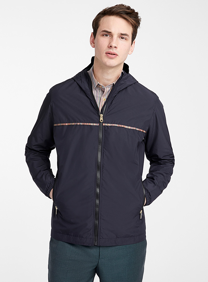 Paul Smith Marine Blue Signature Stripe anorak for men
