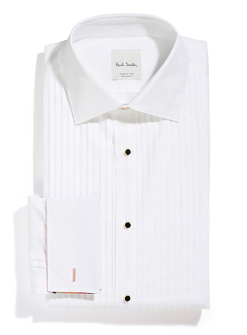 Paul Smith White Bibbed white shirt for men
