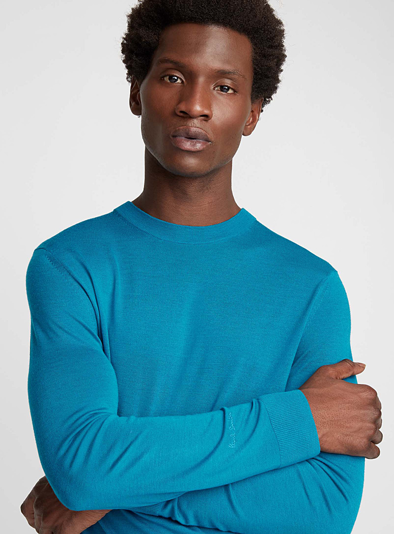 Turquoise merino wool sweater - Paul Smith - Ruby Red