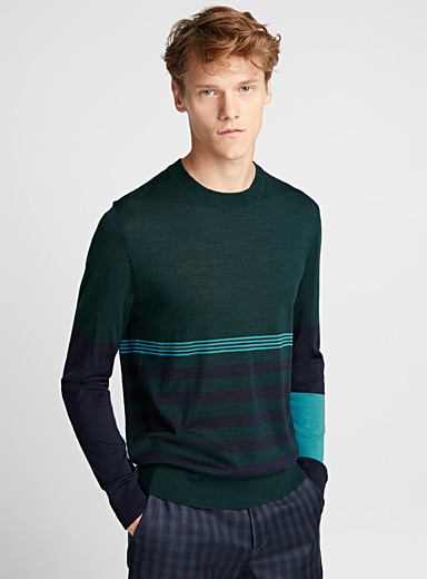 Striped-bands sweater