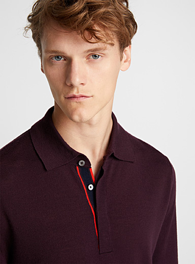 Le pull polo en maille