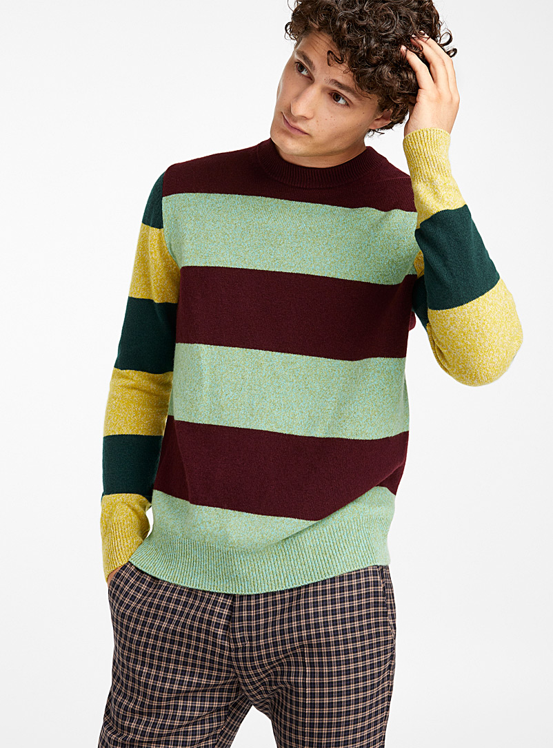 striped-high-neck-sweater