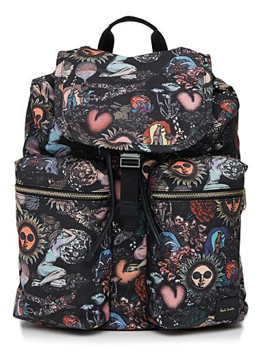 Eclectic printed backpack