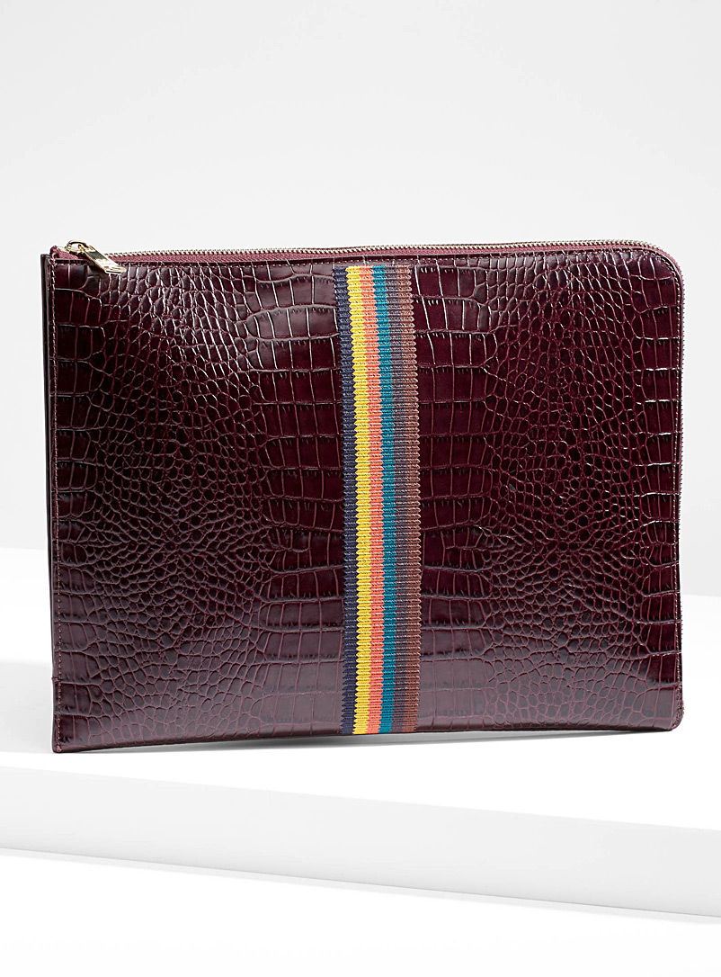 Bright Stripe clutch - Paul Smith - Ruby Red