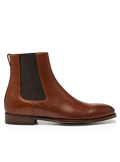 Joyce cognac leather Chelsea boots