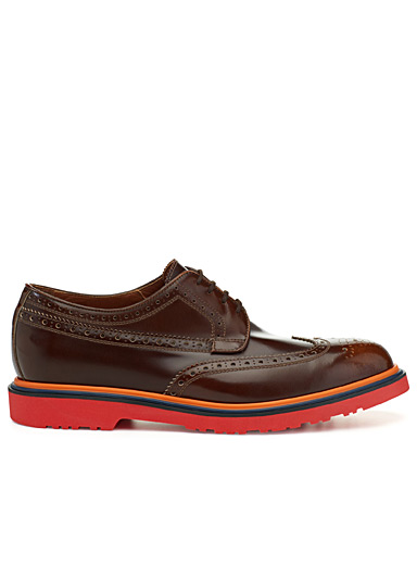 Coloured-sole Oxfords