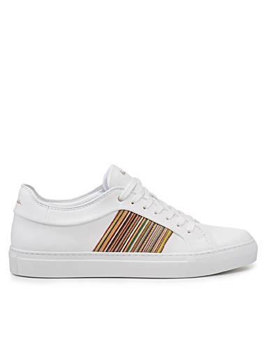Iconic stripe leather sneakers