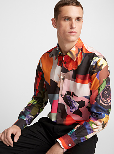 Abstract photo-print shirt