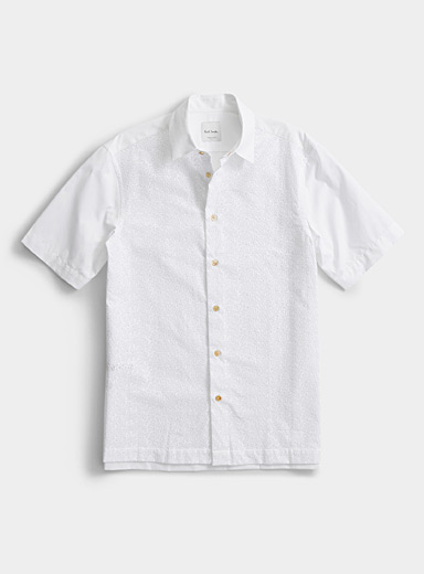 Paul Smith White Broderie anglaise shirt for men
