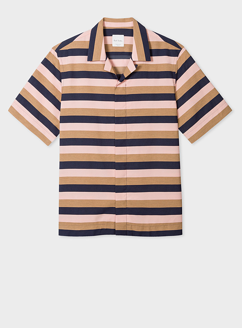 Paul Smith Marine Blue Soho striped shirt for men