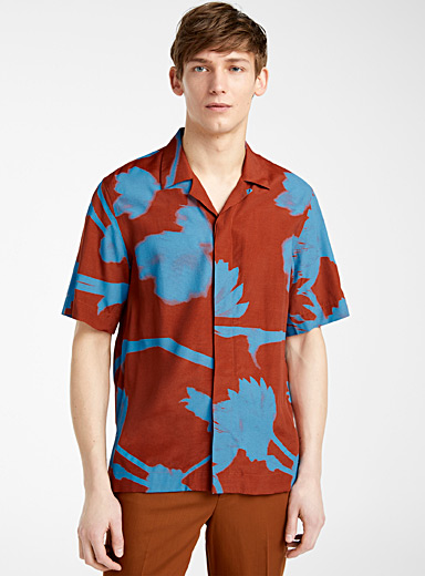 Paul Smith Copper Screen Floral shirt for men